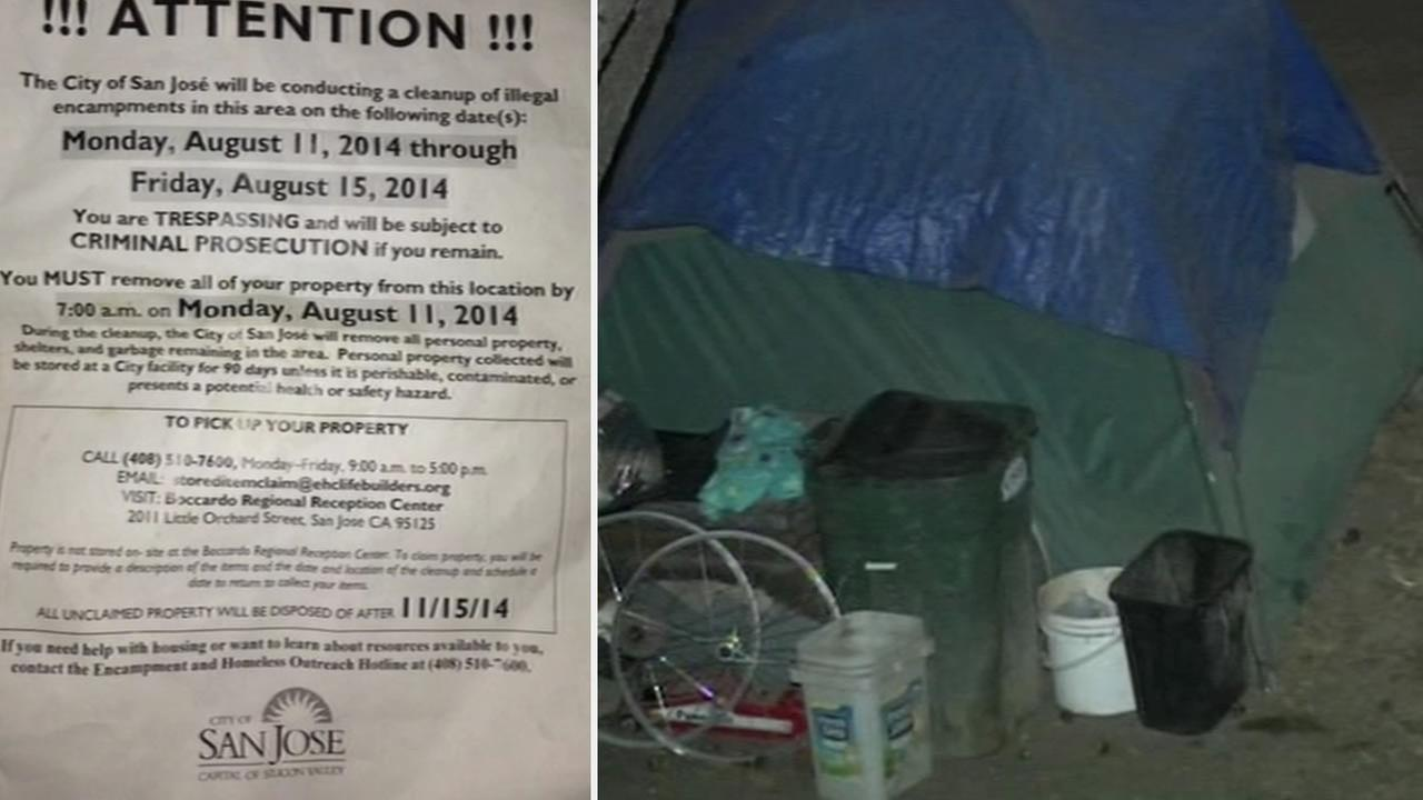San Jose announces plans to clear homeless encampment.