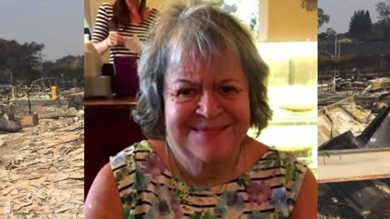 The family of Linda Tunis confirms she died in a wildfire in Santa Rosa, Calif.