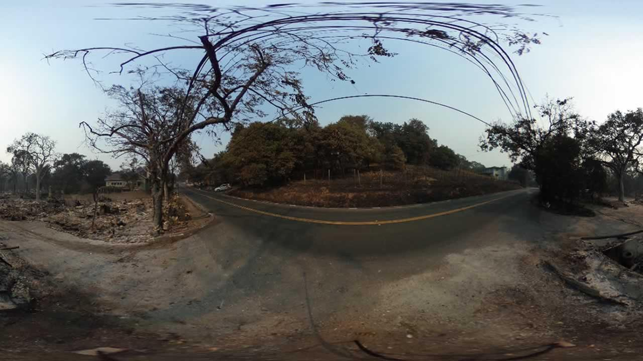 This 360 photo shows the devastation at 5284 Warm Springs Road in Glen Ellen, Calif. on Thursday, Oct. 12, 2017.