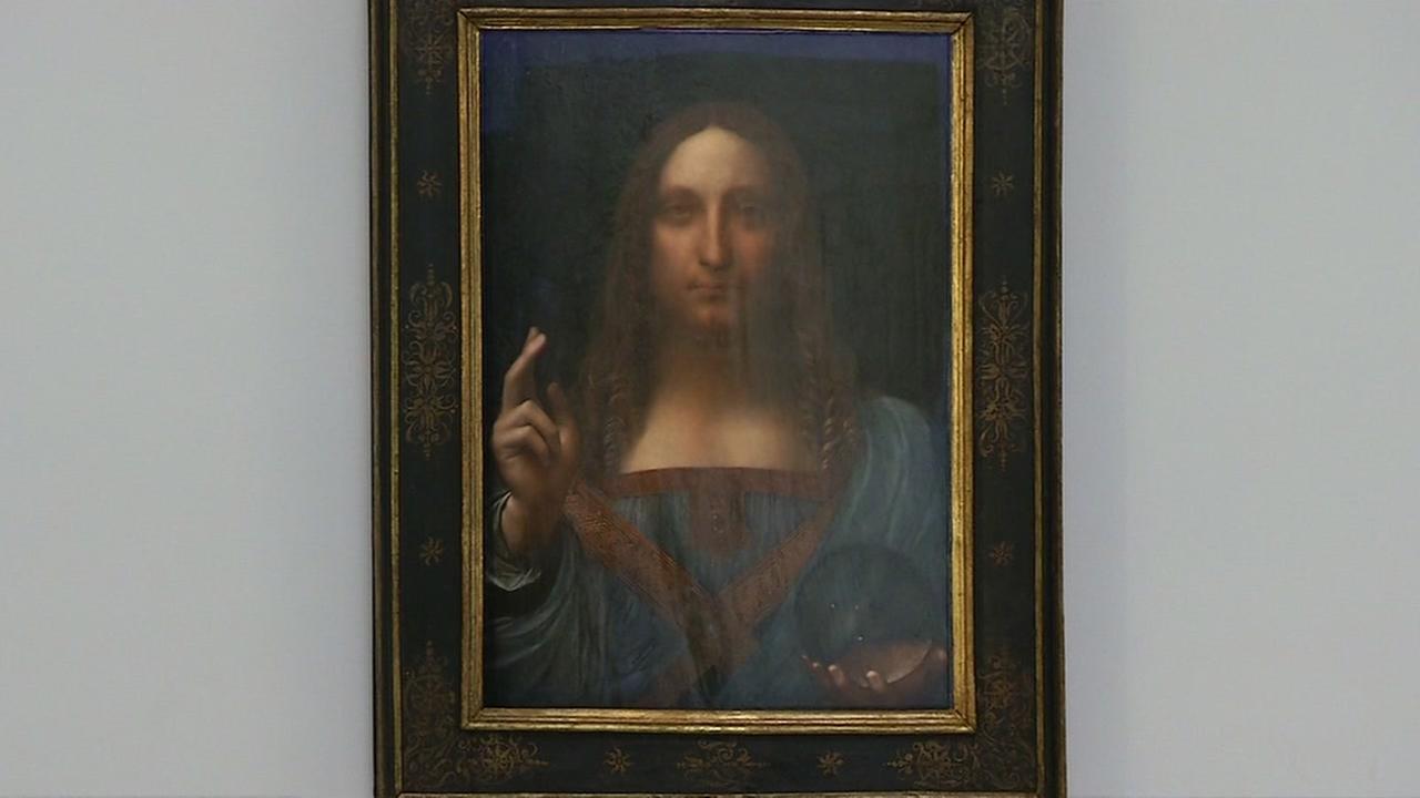 Leonardo da Vincis last masterpiece, Salvator Mundi, is shown on display in San Francisco on Wednesday, Oct. 18, 2017.