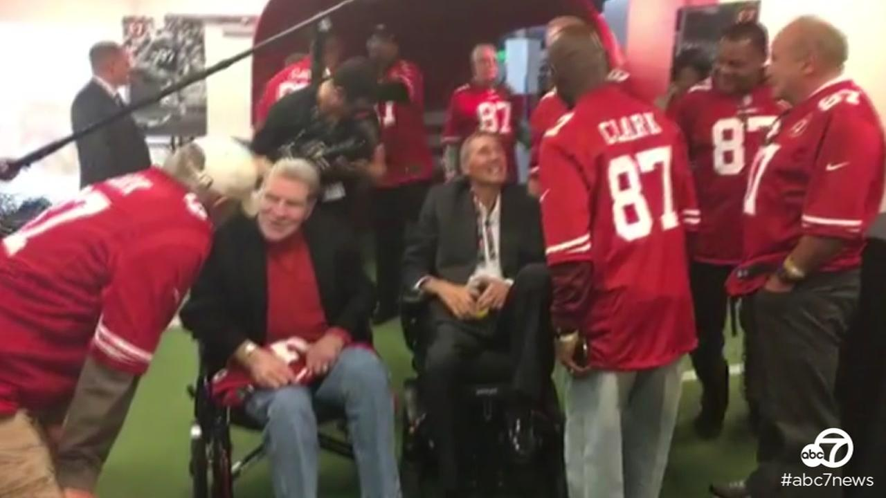 Former 49er and ABC7 Sports Reporter Mike Shumann gave viewers a behind-the-scenes look before a 49ers game in Santa Clara, Calif. on Sunday, Oct. 23, 2017.