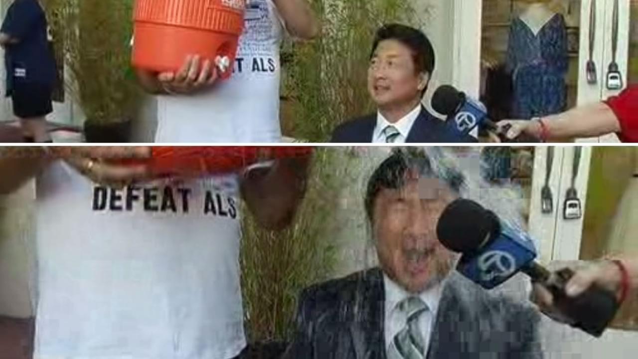 ABC7 News reporter Alan Wang takes on the Ice Bucket Challenge.
