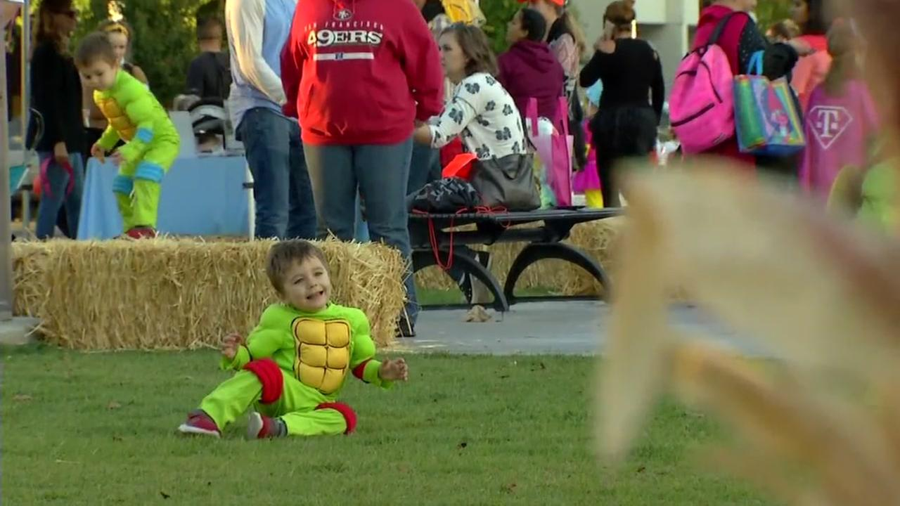 A child enjoys the Heros Halloween event in Santa Rosa on Tuesday, Oct. 31, 2017.