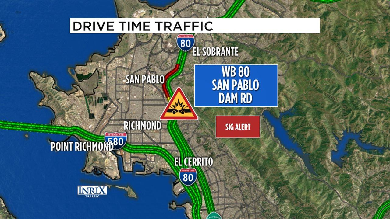 At least 1 dead in crash on WB I-80 at San Pablo Dam Road | abc7news.com