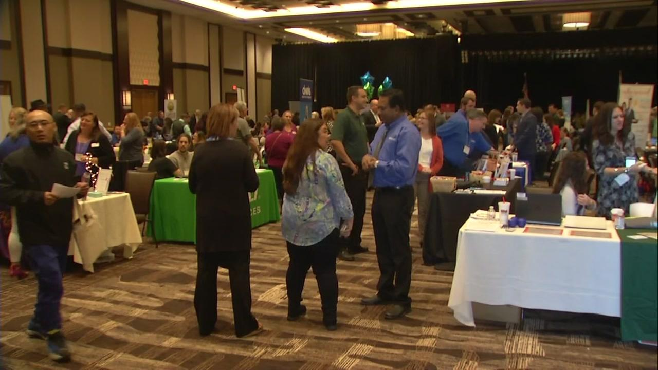 A job fair aimed at helping wildfire victims took place in Rohnert Park, Calif. on Tuesday, Nov. 7, 2017.