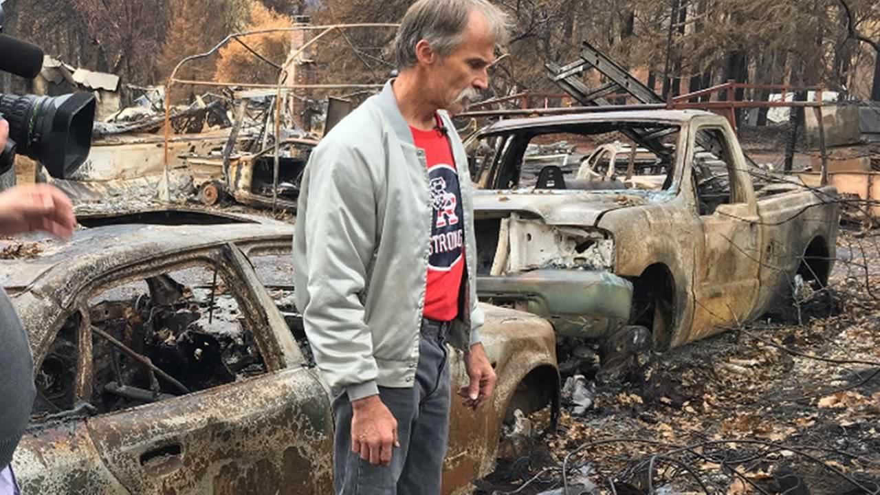 This is an image of Neil Blodgett who lost his home in Santa Rosa, Calif during the North Bay fires. The photo was taken on November 7, 2017.