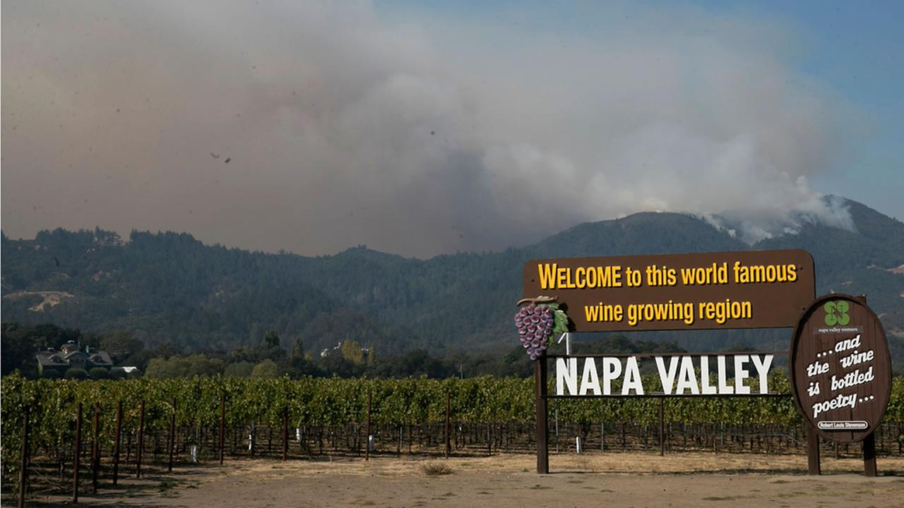 This is an undated image of a sign in Napa, Calif.