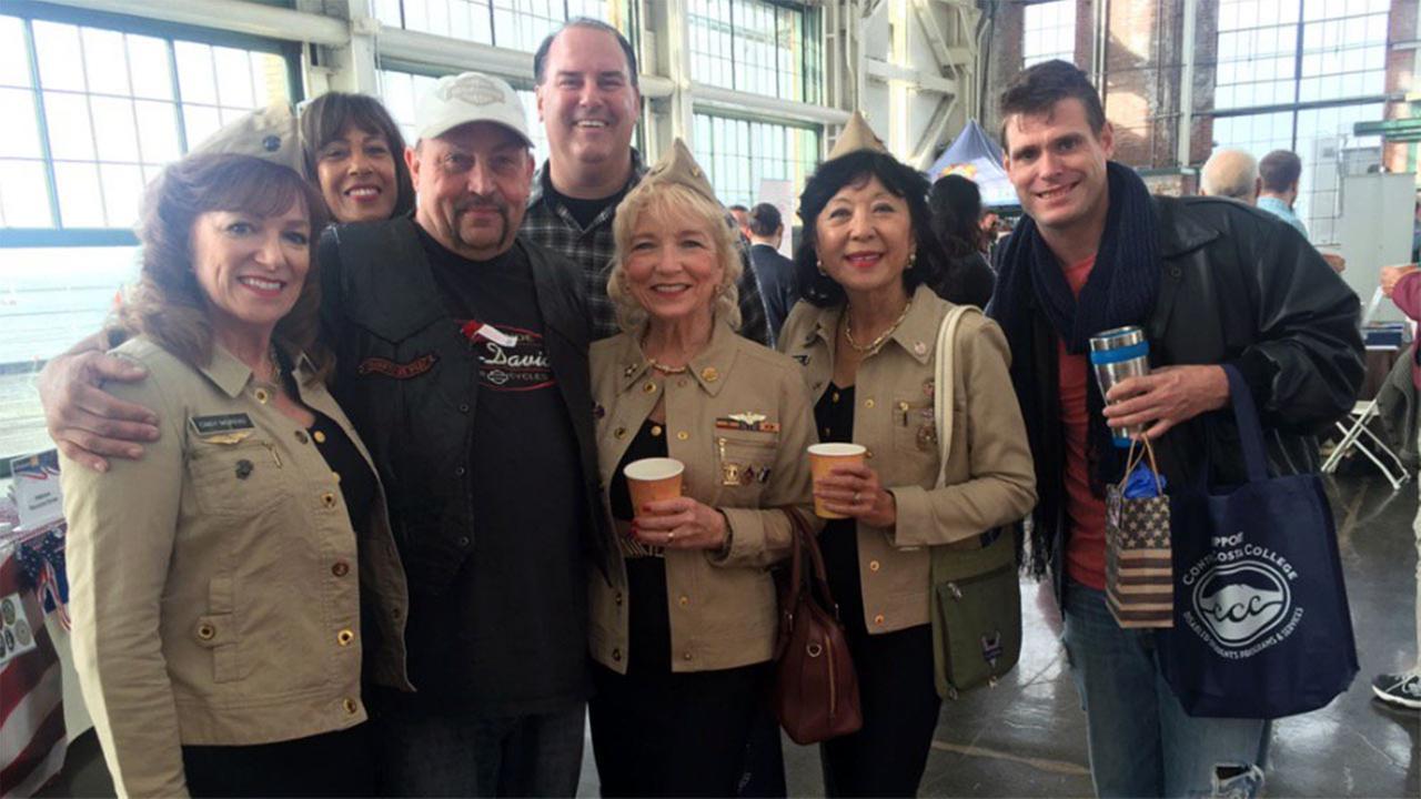 Veterans at event in Richmond, California, Friday, November 10, 2017.