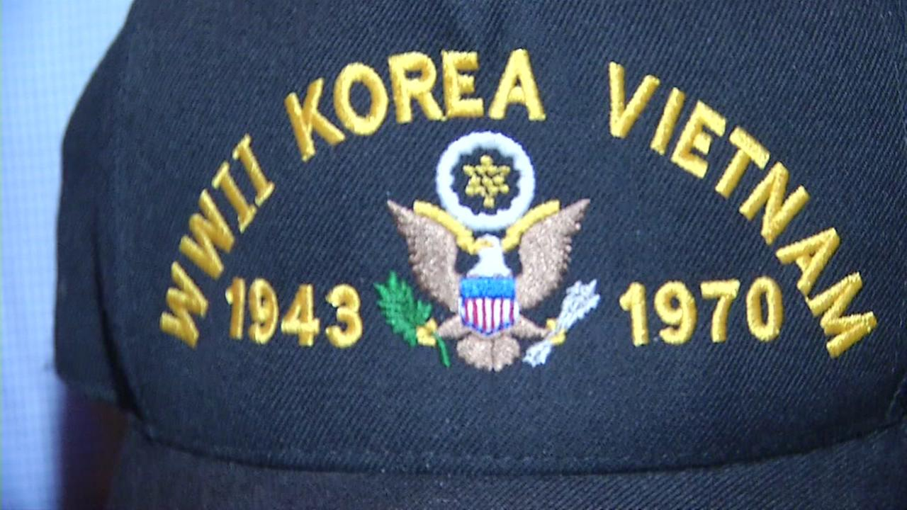 A Korean War veterans hat is seen in this undated image.