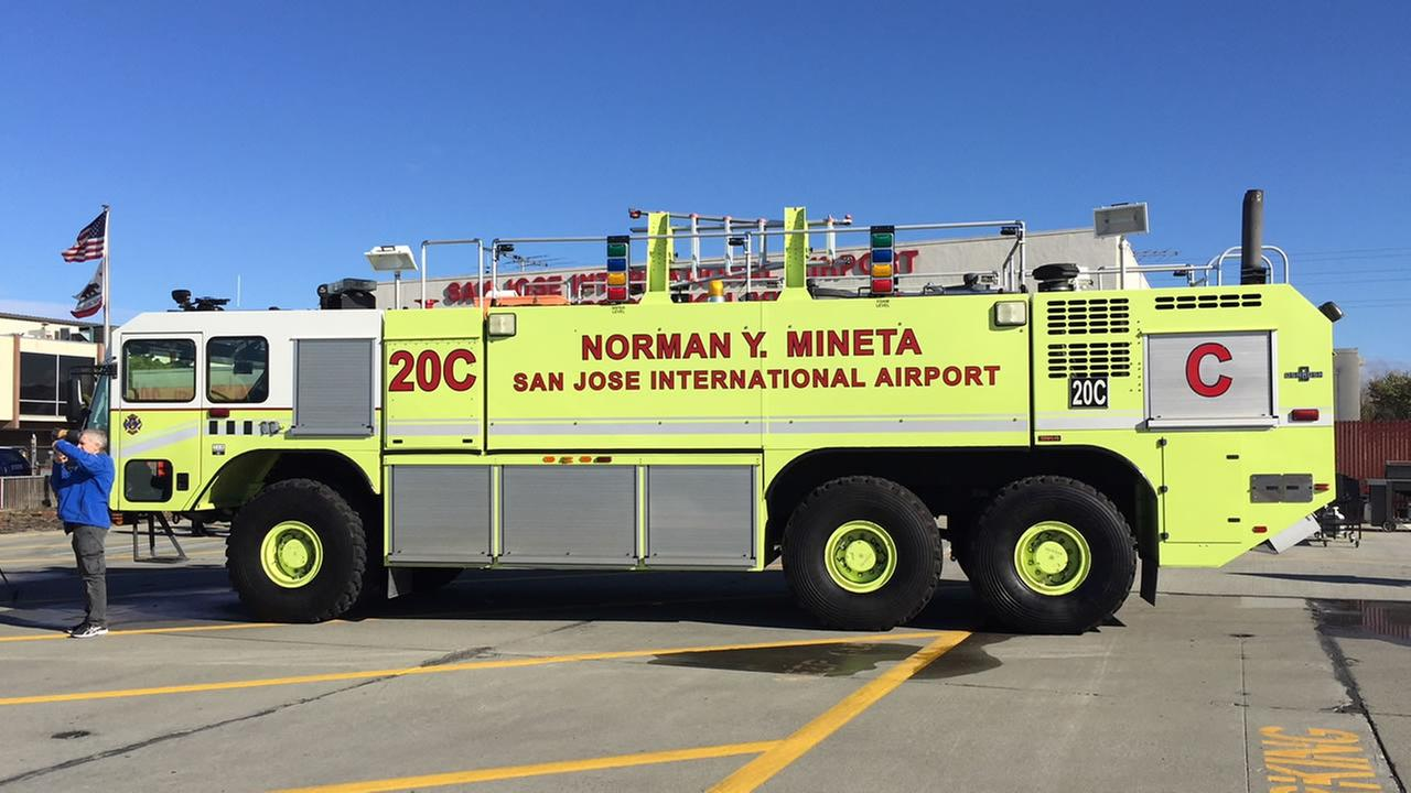 Firefighters in San Jose, Calif. showed off a new rig on Monday, Nov. 13, 2017.