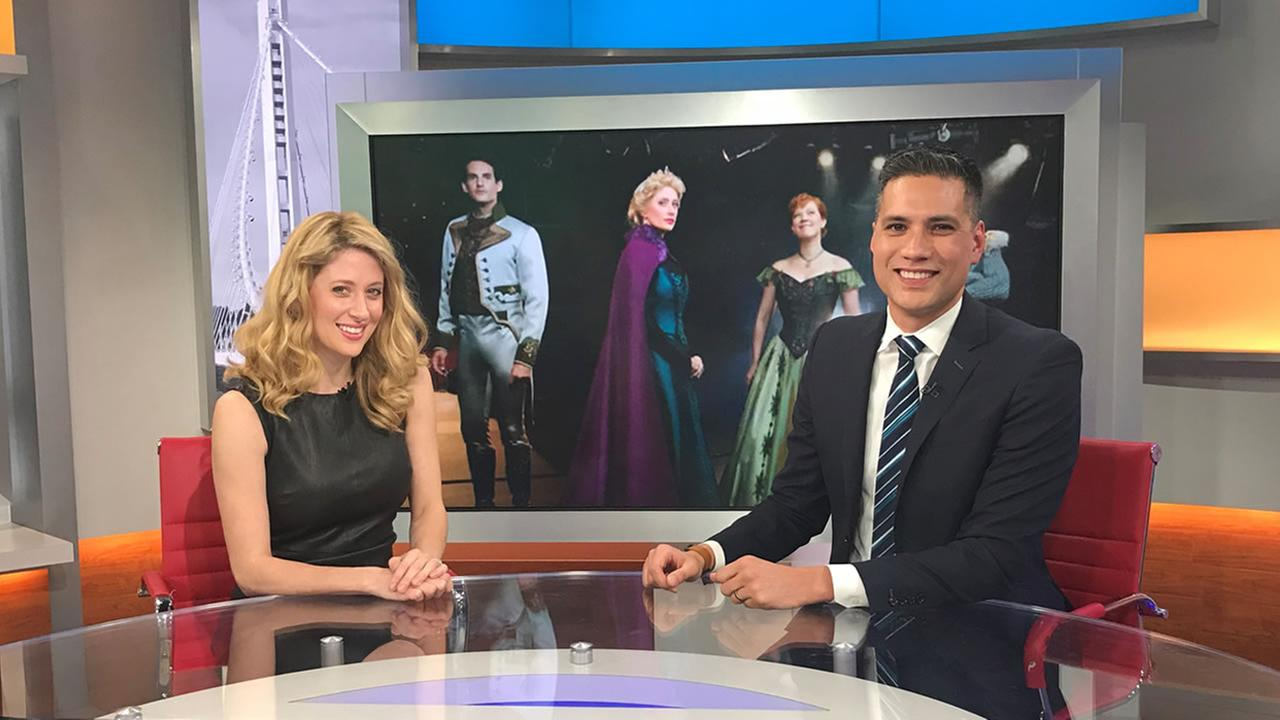 Actress Caissie Levy sits down for an interview with ABC7 Mornings anchor Reggie Aqui on Thursday, Nov. 16, 2017 in San Francisco.