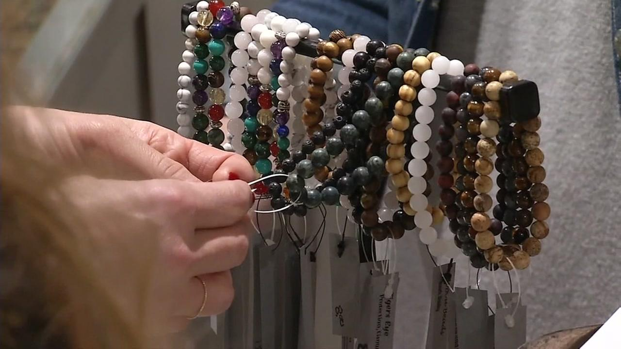Beads are seen in a store in Campbell, Calif. on Friday, Nov. 17, 2017.
