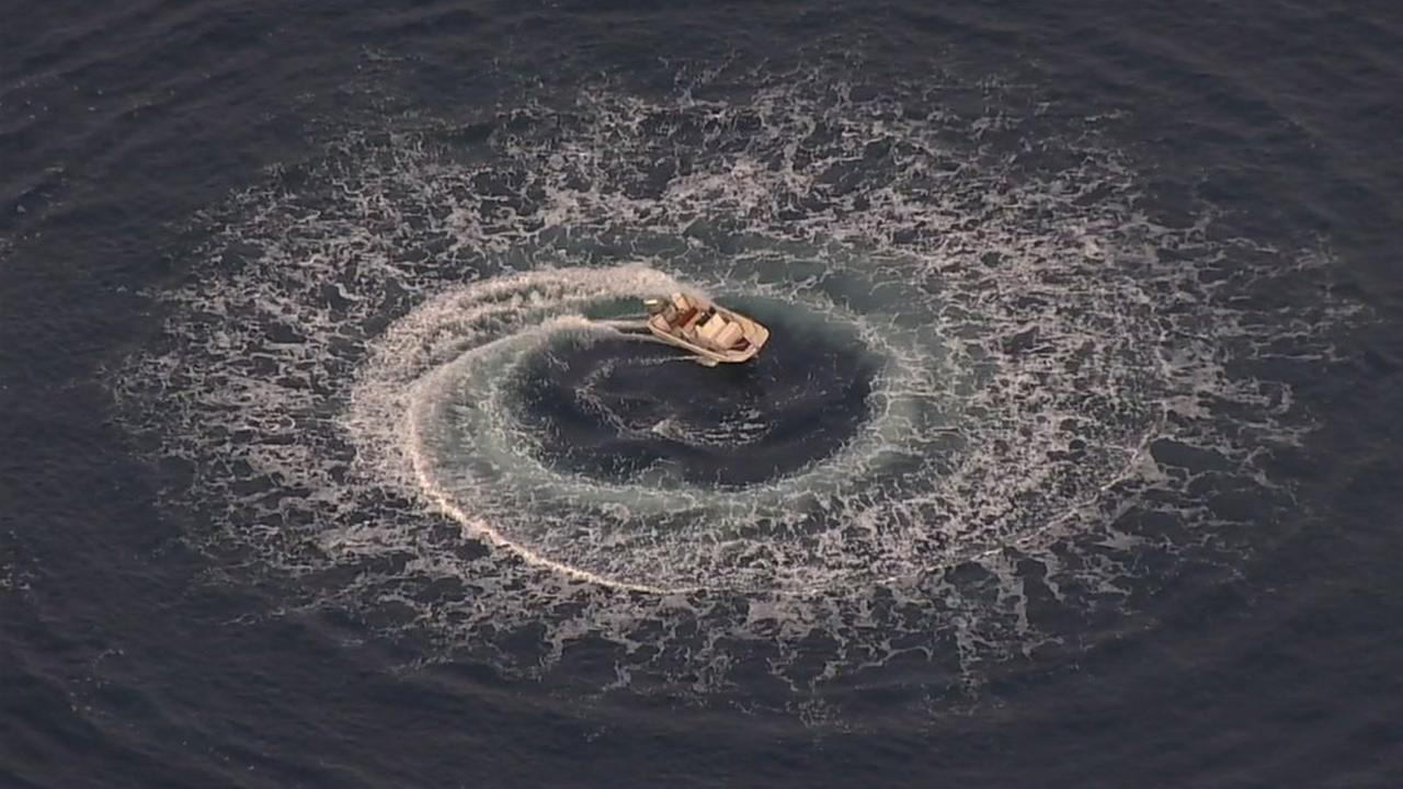 A boat was found spinning out of control near Half Moon Bay on Sunday, Nov. 19, 2017.