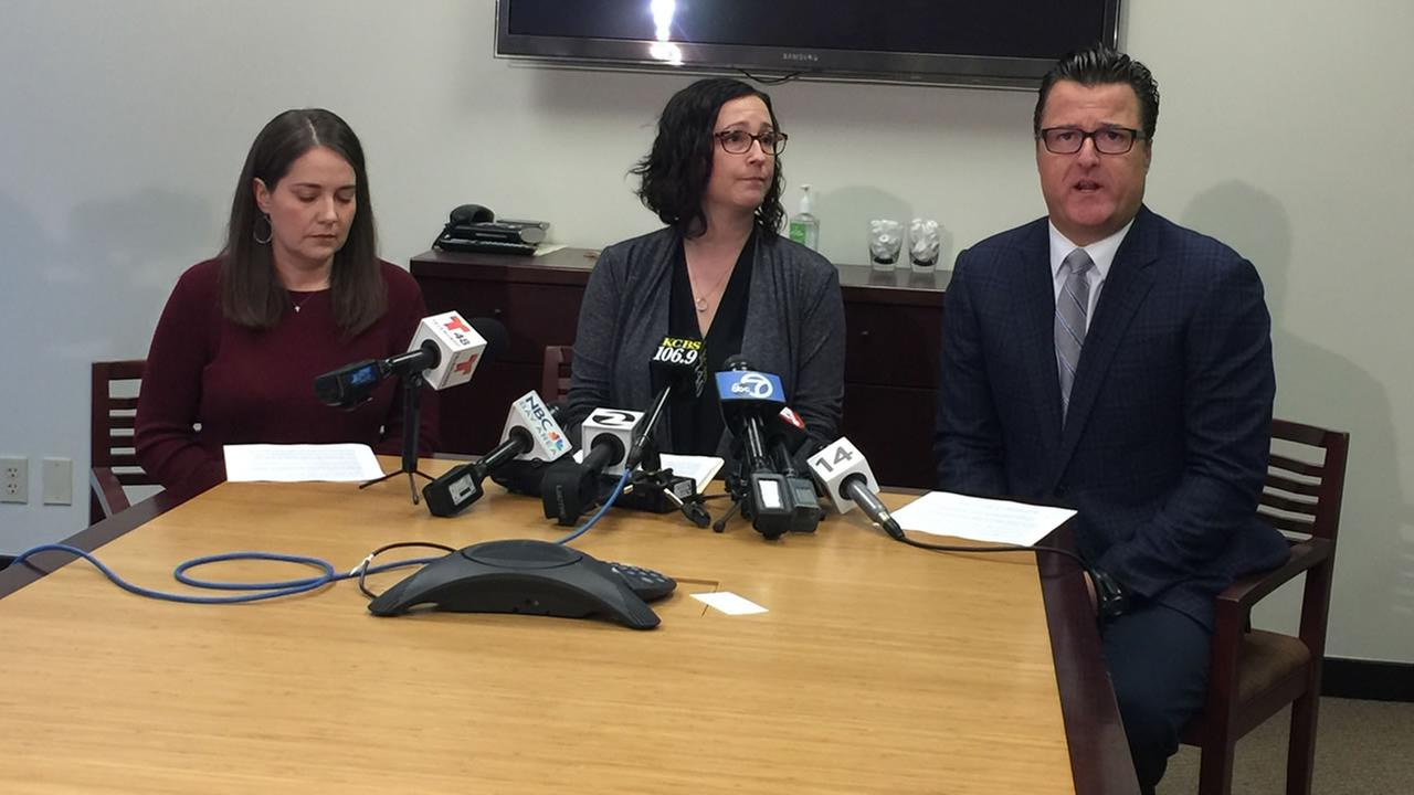 Officials discuss sexual abuse allegations at Presentation High School in San Jose, Calif. on Wednesday, Nov. 22, 2017.