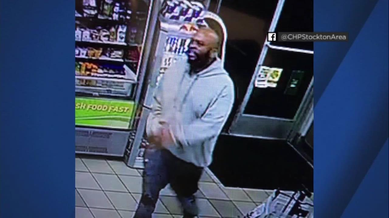 John Bivins, an escaped inmate from Santa Clara County, appears in a Stockton gas station on Tuesday, Nov. 21, 2017.