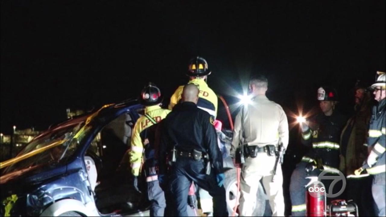 CHP investigate fatal accident near Livermore, California, Thursday, November 23, 2017.