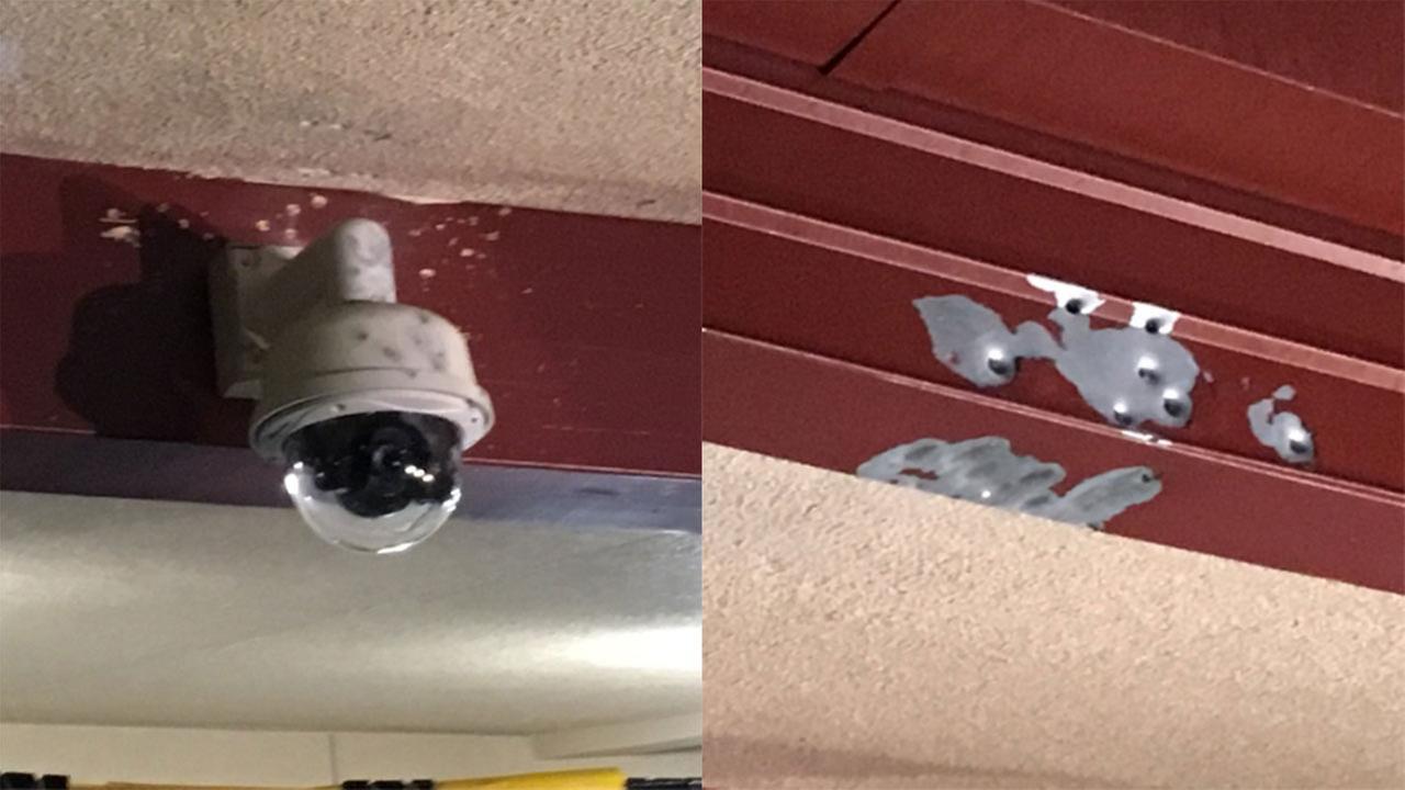 Shooting evidence at Booksin Elementary School in San Jose, California, Tuesday, November 28, 2017.