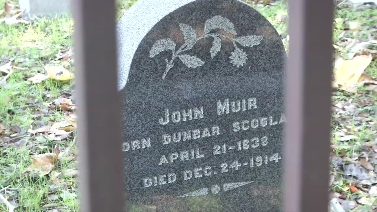 This is an image of John Muirs grave in Martinez, Calif. on Wednesday, November 29, 2017.