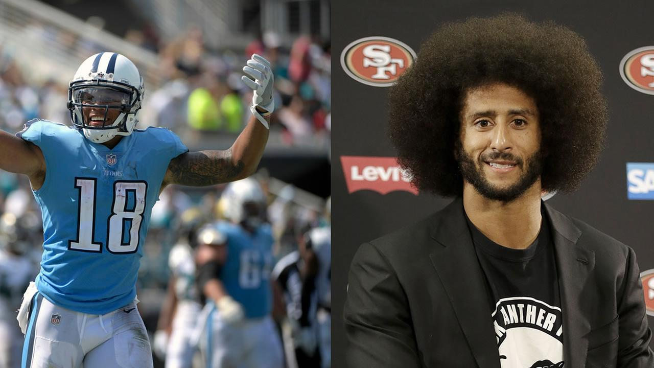 This is an image of Rishard Matthews and Colin Kaepernick.