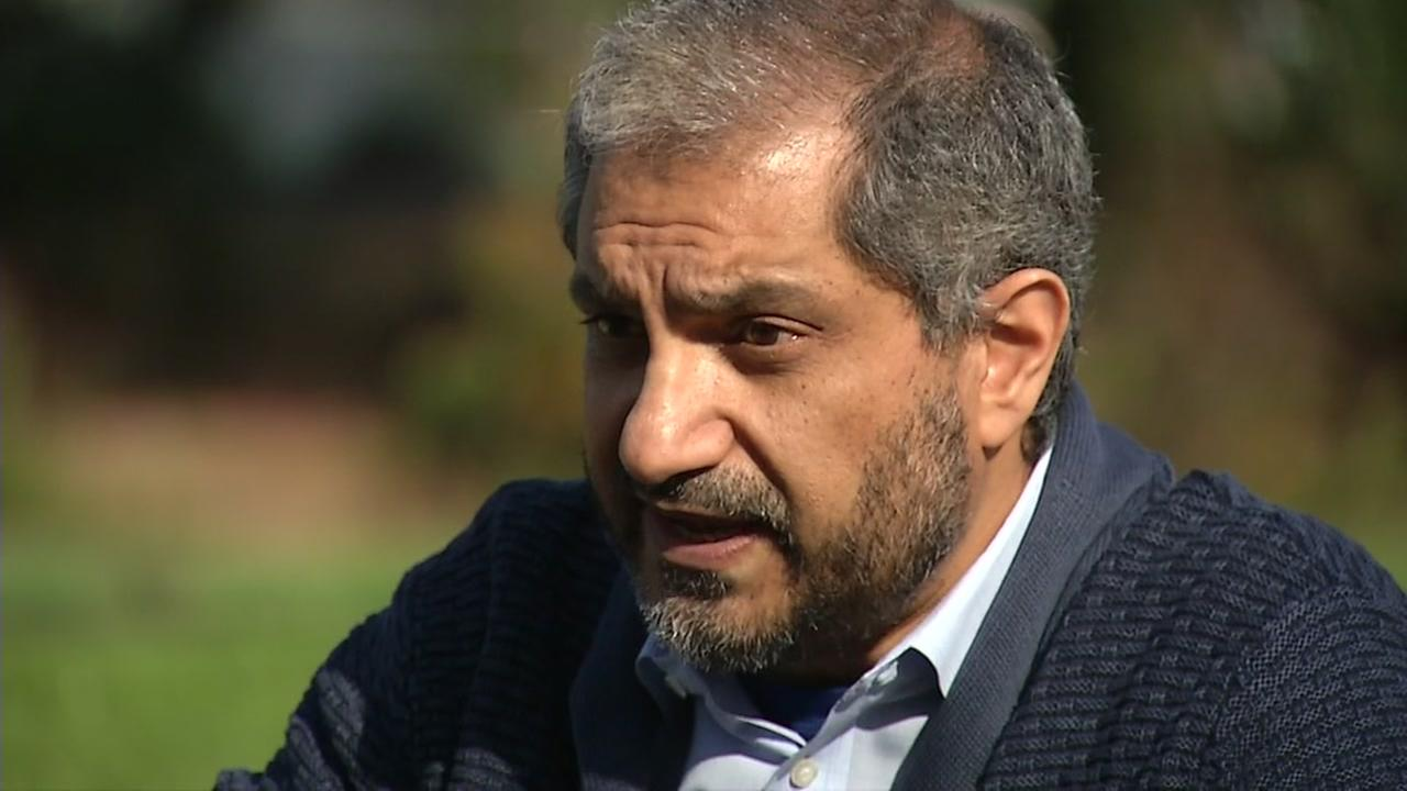 Dr. Salman Azhar speaks to ABC7 News about treatment he received aboard a United Airlines flight on Friday, Dec. 1, 2017.