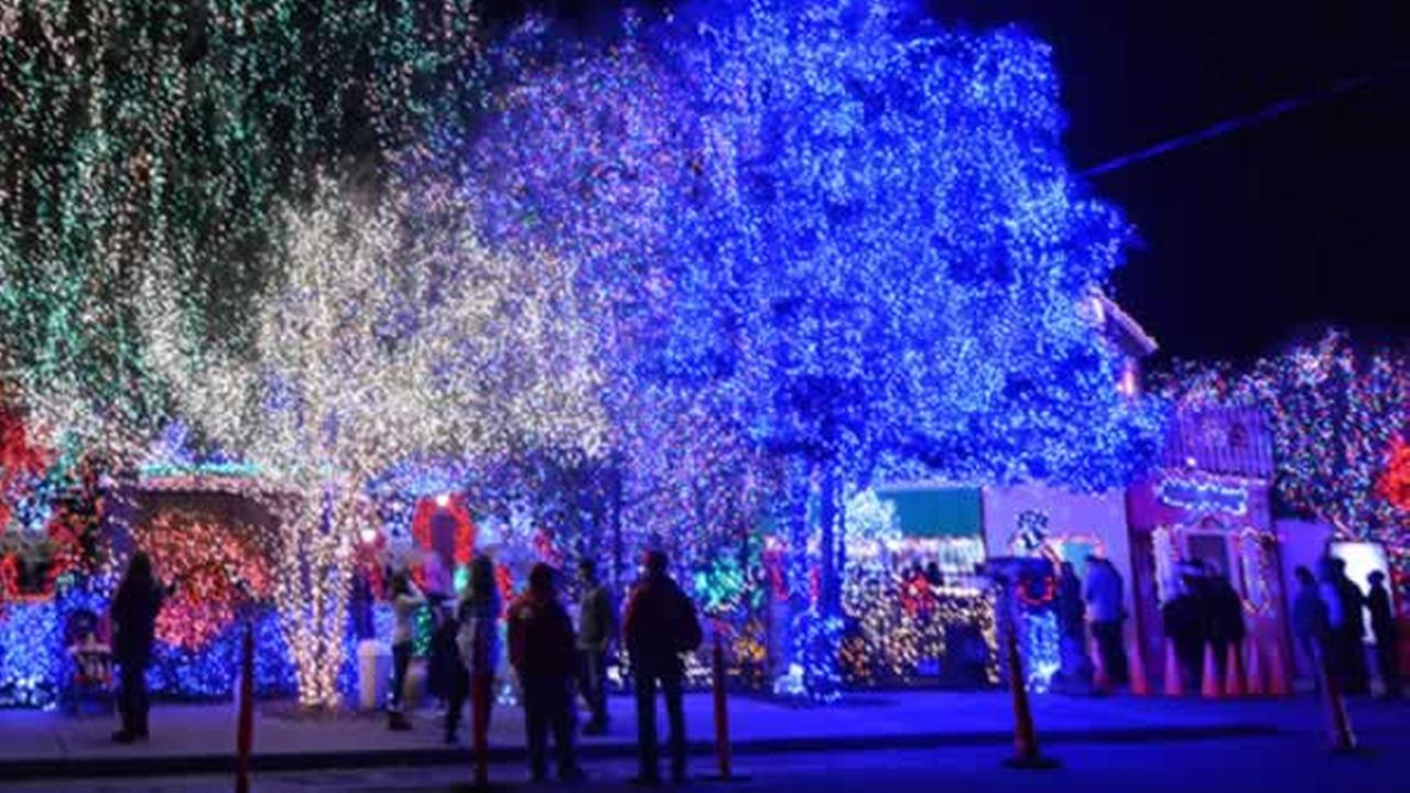 Visitors look at the holiday lights at Deacon Daves House of the Dove in Livermore, Calif. in this undated photo.