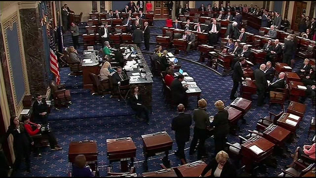 The U.S. Senate votes on tax reform on Tuesday, Dec. 19, 2017.