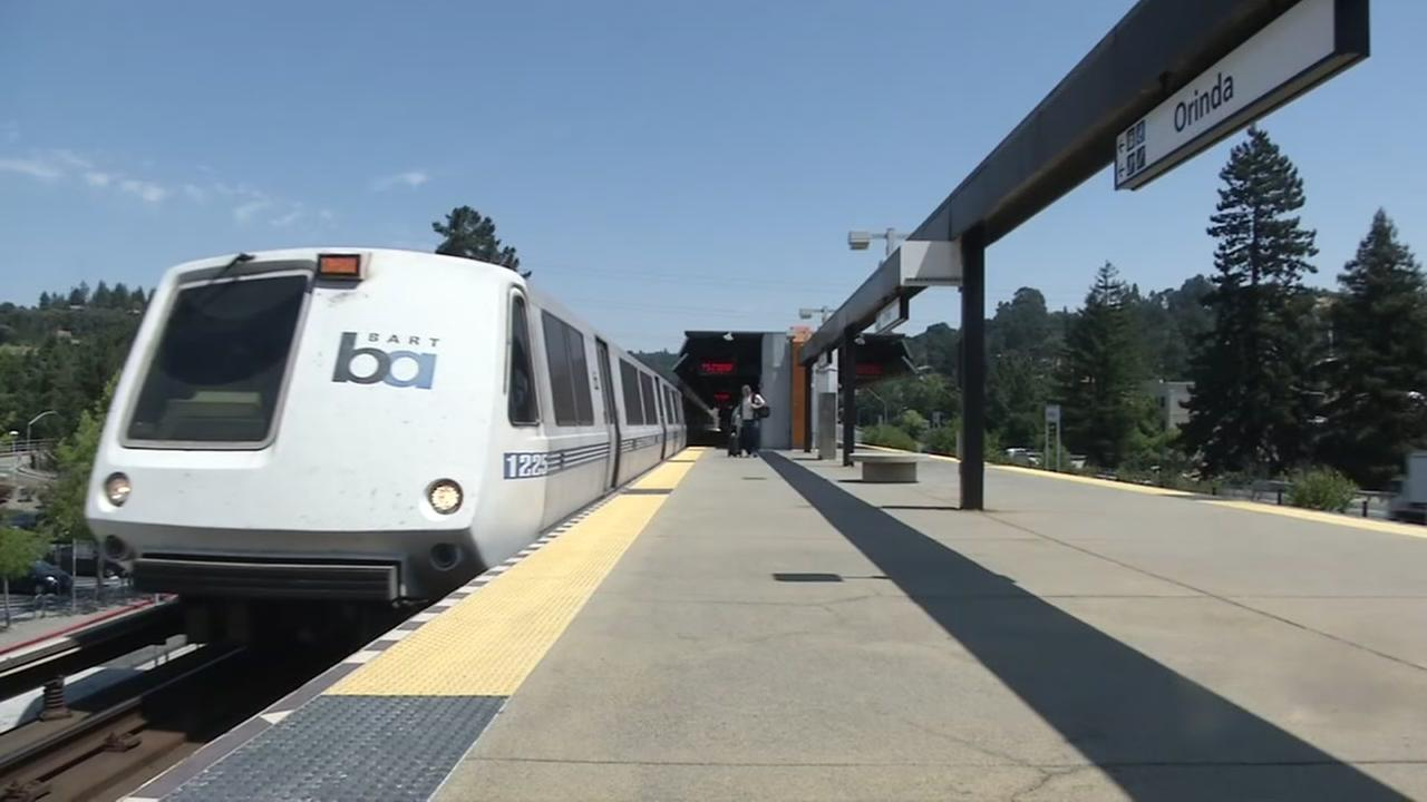 This is an undated image of a BART train.