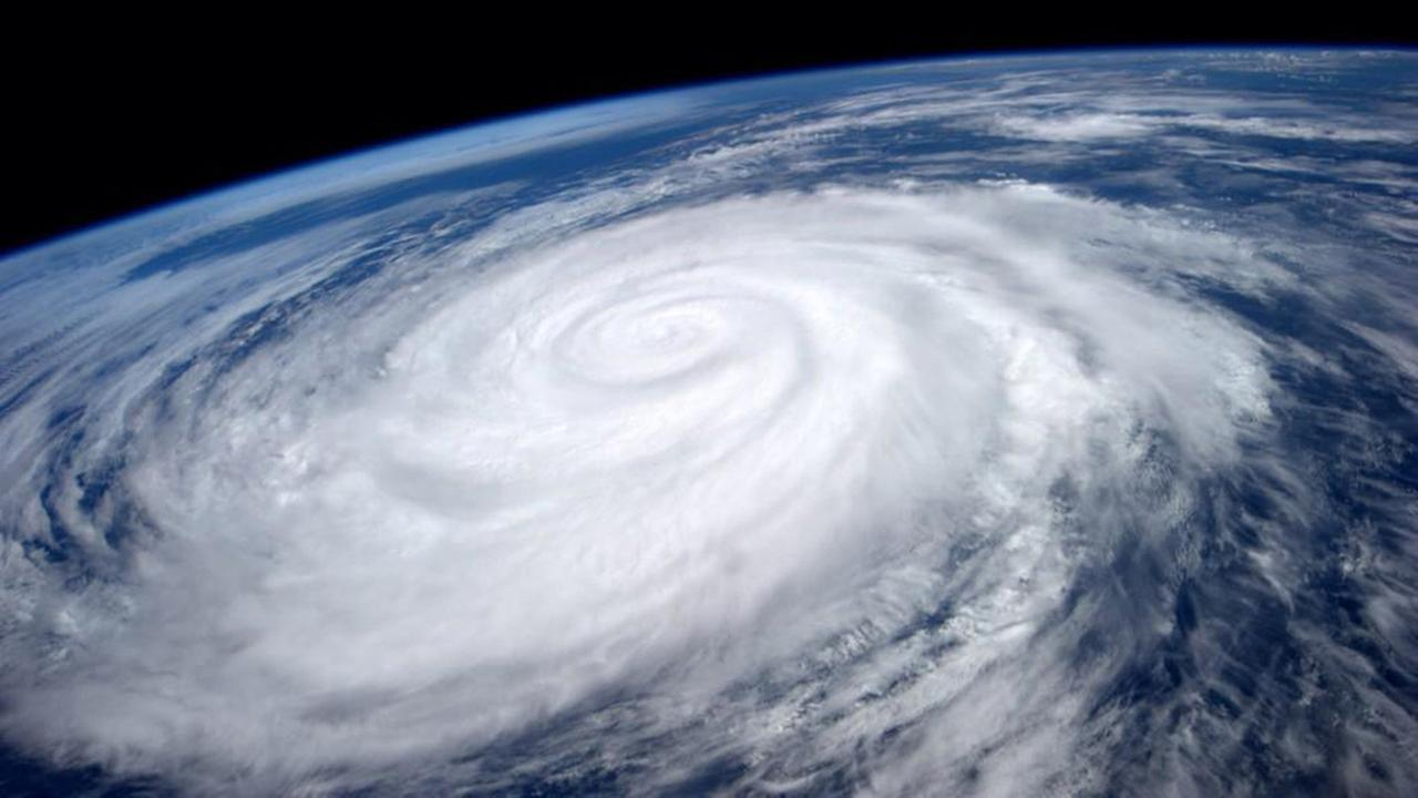 This image provided by NASA shows Hurricane Marie taken fom the International Space Station Tuesday Aug. 26, 2014.