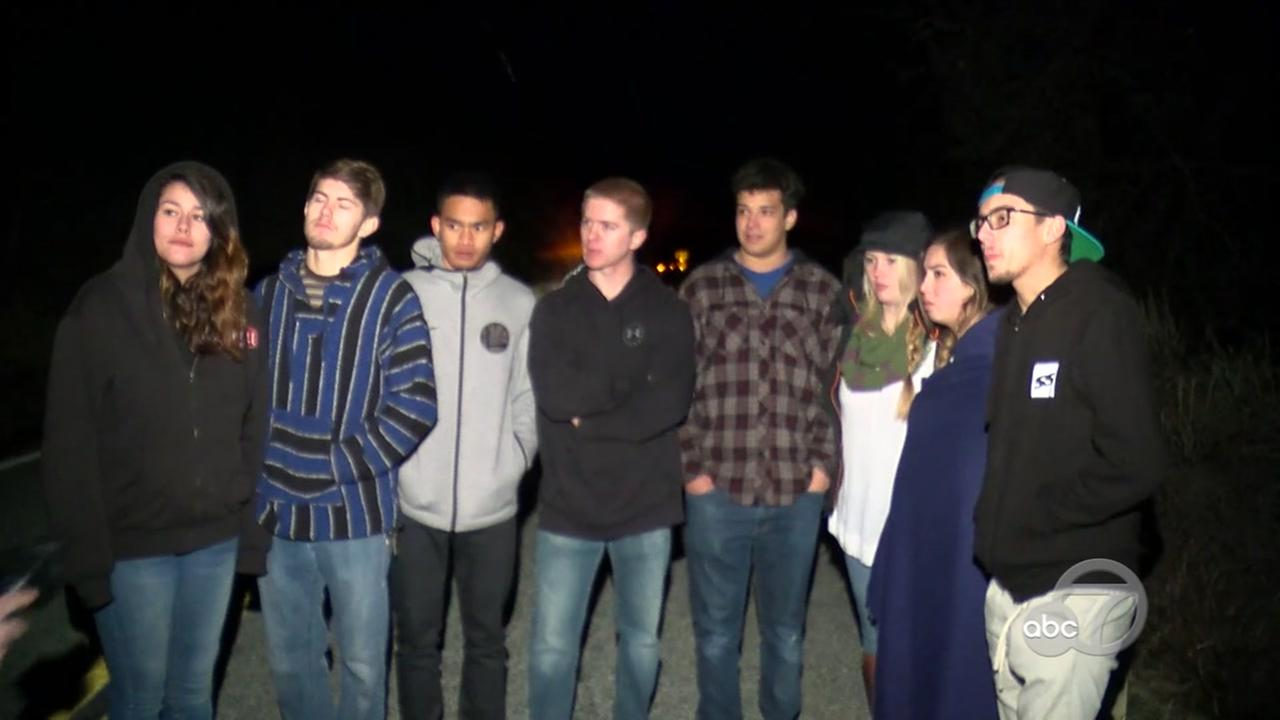 Teens help rescue man fell down embankment in Santa Clara County, California, Thursday, December 28, 2017.
