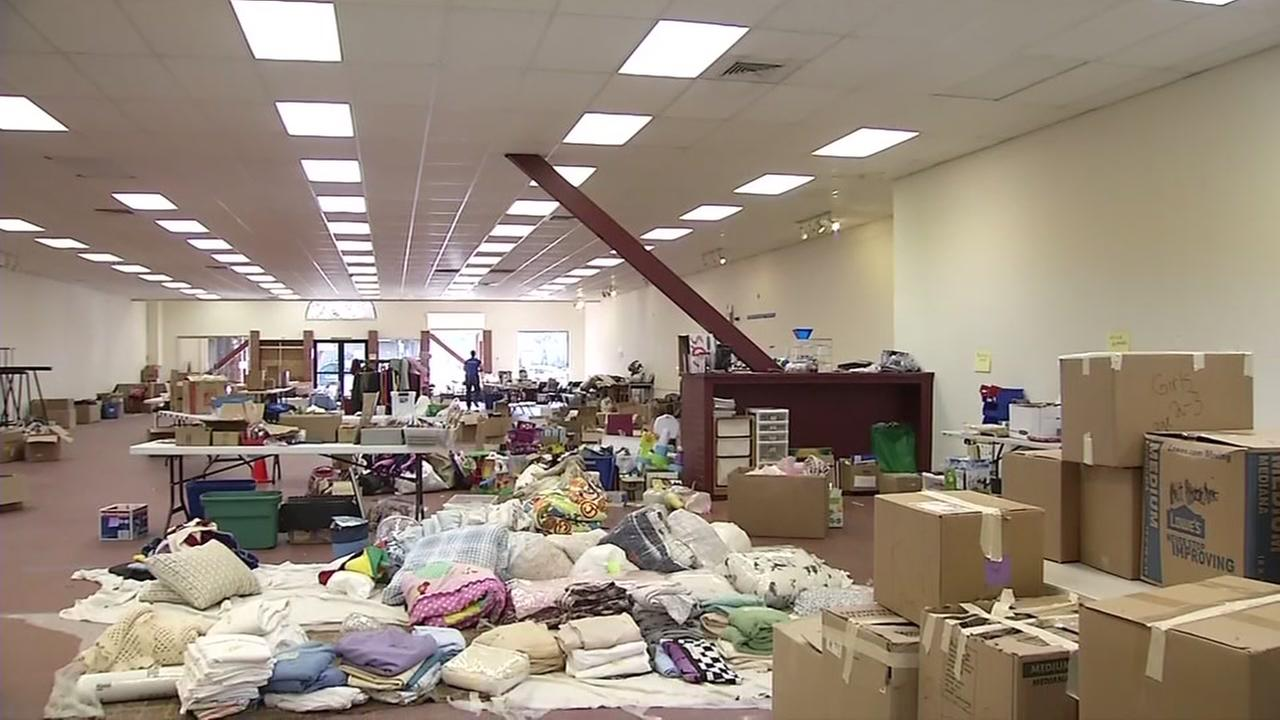 This is an image of a donation center in Santa Rosa, Calif. on Thursday, Dec. 28, 2017, that has been broken into multiple times.