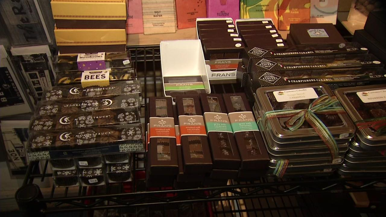 Chocolate is on display in San Franciscos Ghirardelli Square on Monday, Jan. 1, 2018.