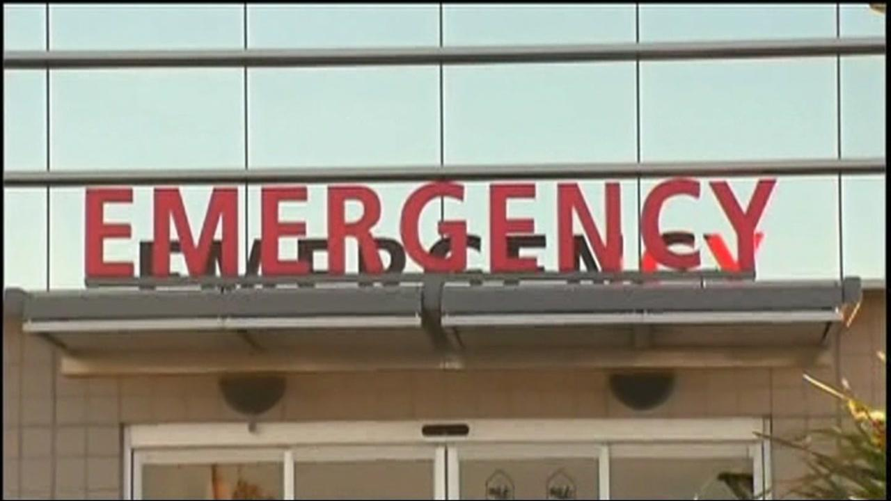 This is an undated image of emergency room sign.