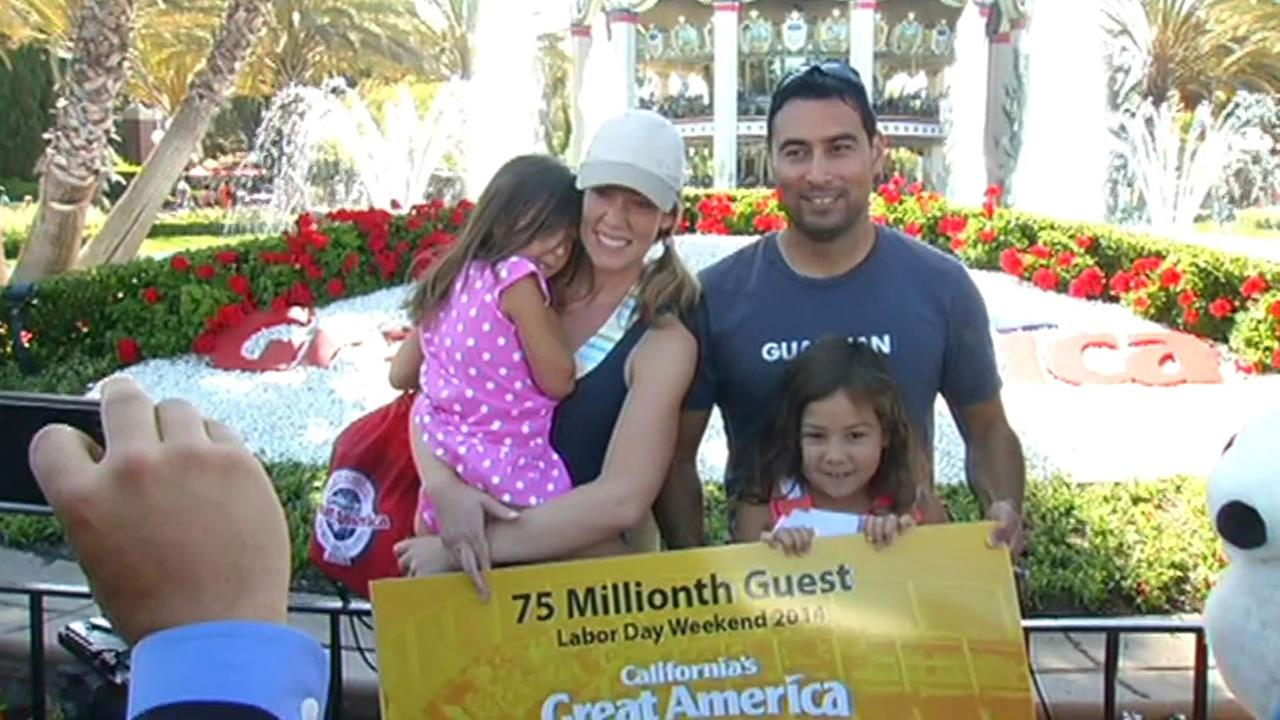 The Prosper family was Great Americas 75,000,000 customer Labor Day.
