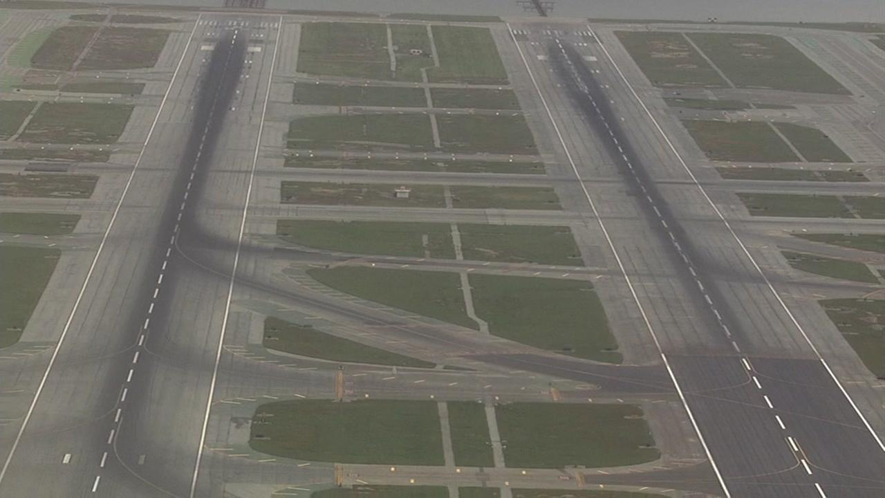 This is an undated image of the runways at San Francisco International Airport.