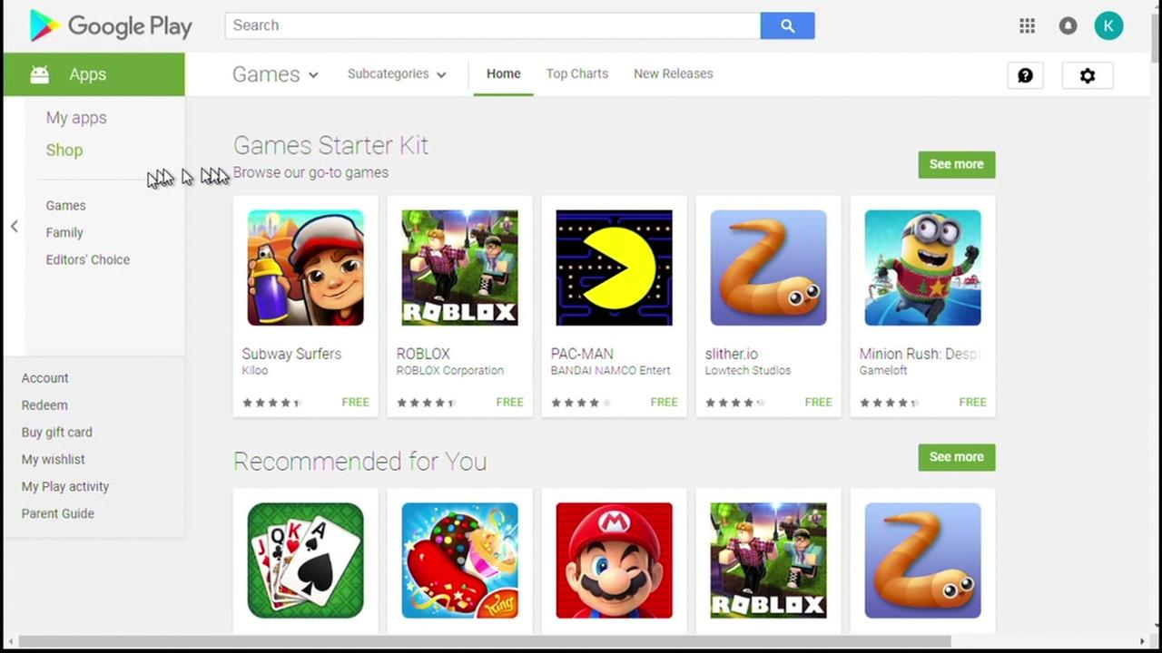 This is an undated screenshot of childrens apps in the Google Play store.