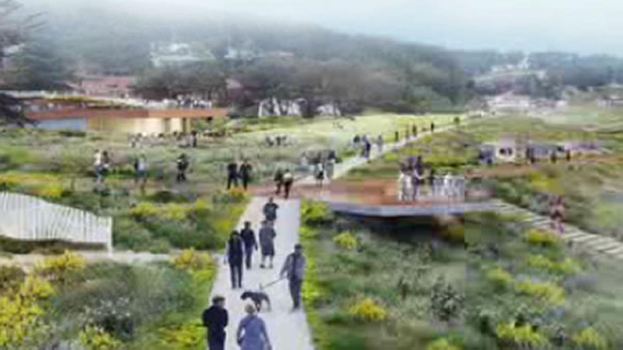 This image is one of the ideas that will be presented for the Presidio Parkland Project near the Golden Gate Bridge.