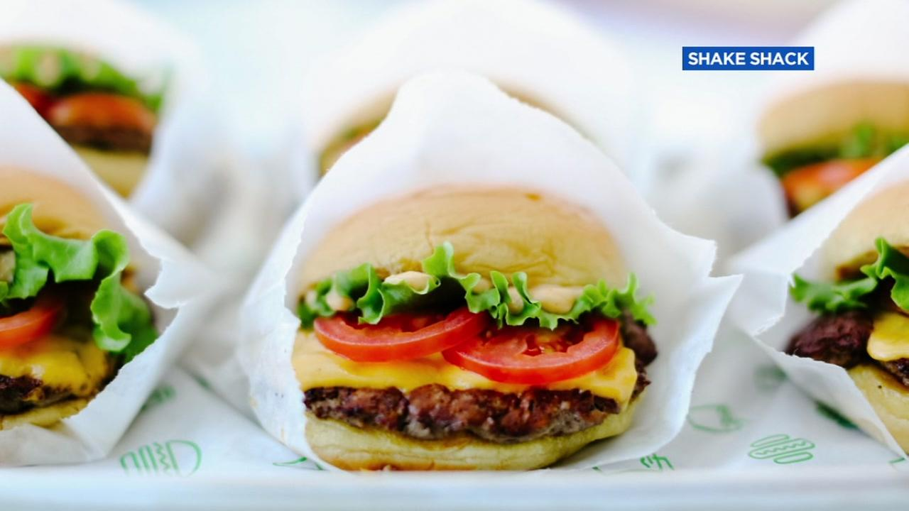 A Shake Shack burger appears in this undated image.