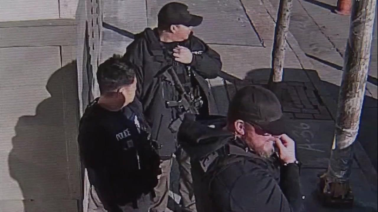 ICE agents appear in San Francisco in 2016.