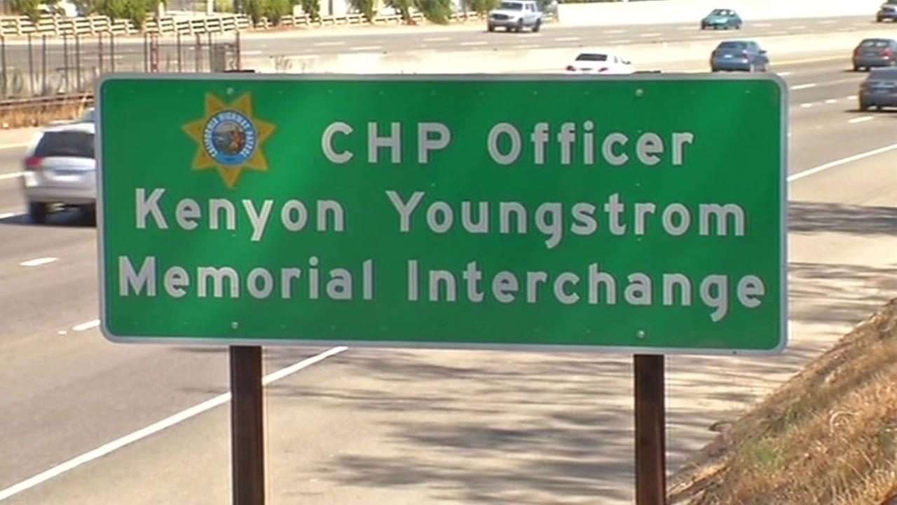 East Bay freeway interchange dedicated to CHP Youngstrom