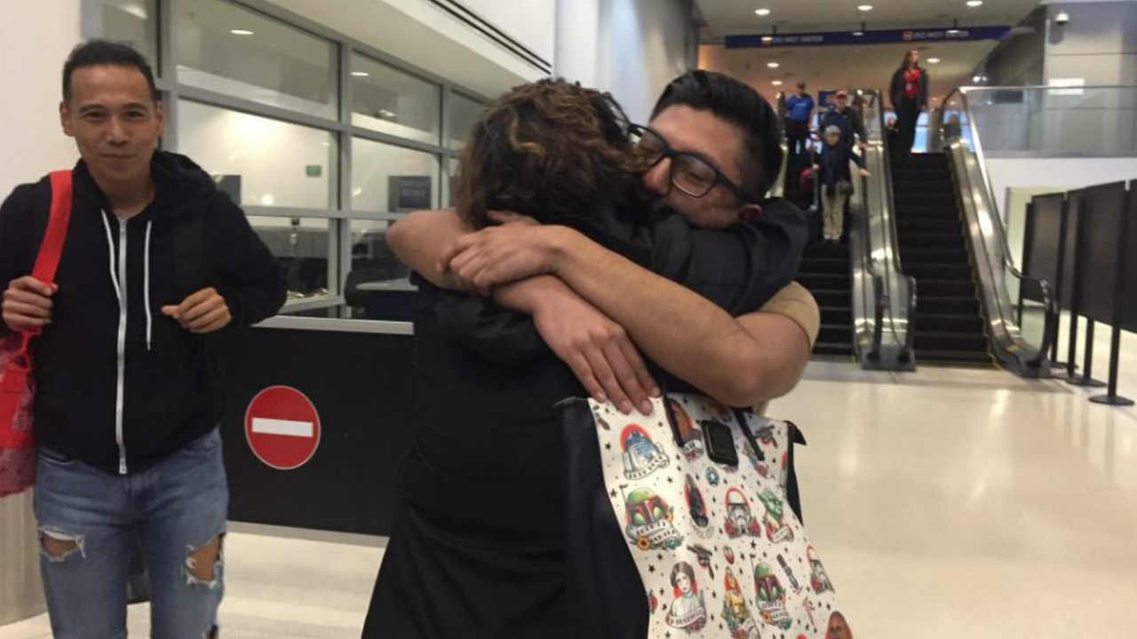 U.C. Berkeley student Luis Mora is seen arriving in Oakland, Calif. on Sunday, Jan. 21, 2018.