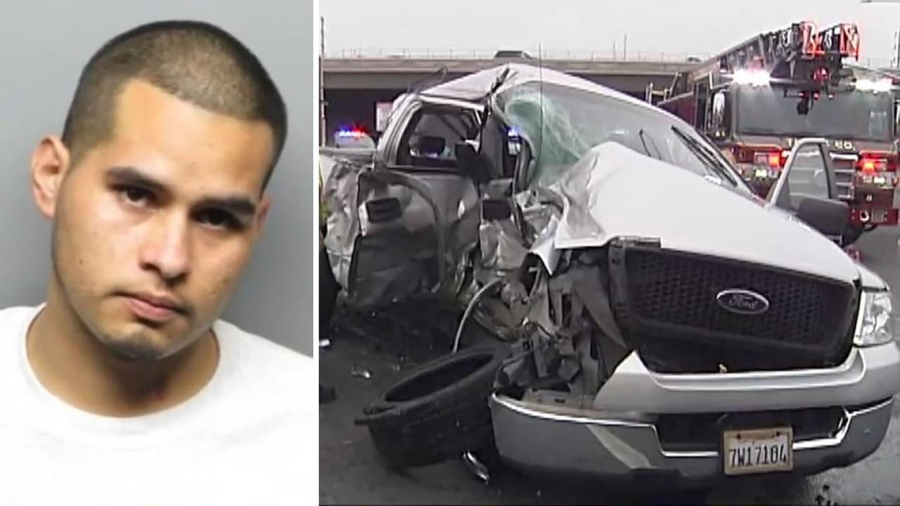 Noe Saucedo, 23, is accused of driving a stolen truck and causing a deadly crash in Antioch, Calif. on Wednesday, Jan. 17, 2018.