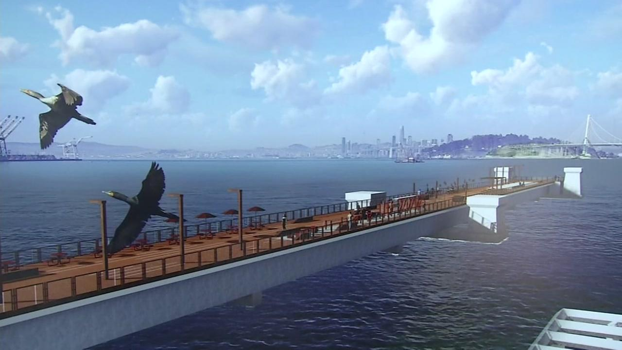 Concept art of the proposed Bay Bridge vistas appears on Tuesday, Jan. 23, 2018.