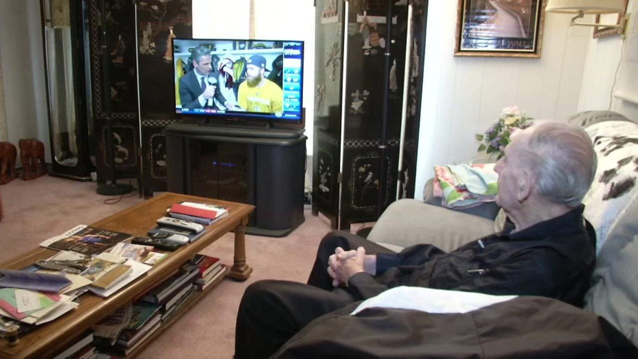 Robert watches television in his Napa Valley, Calif. home on Wednesday, Jan. 24, 2018.