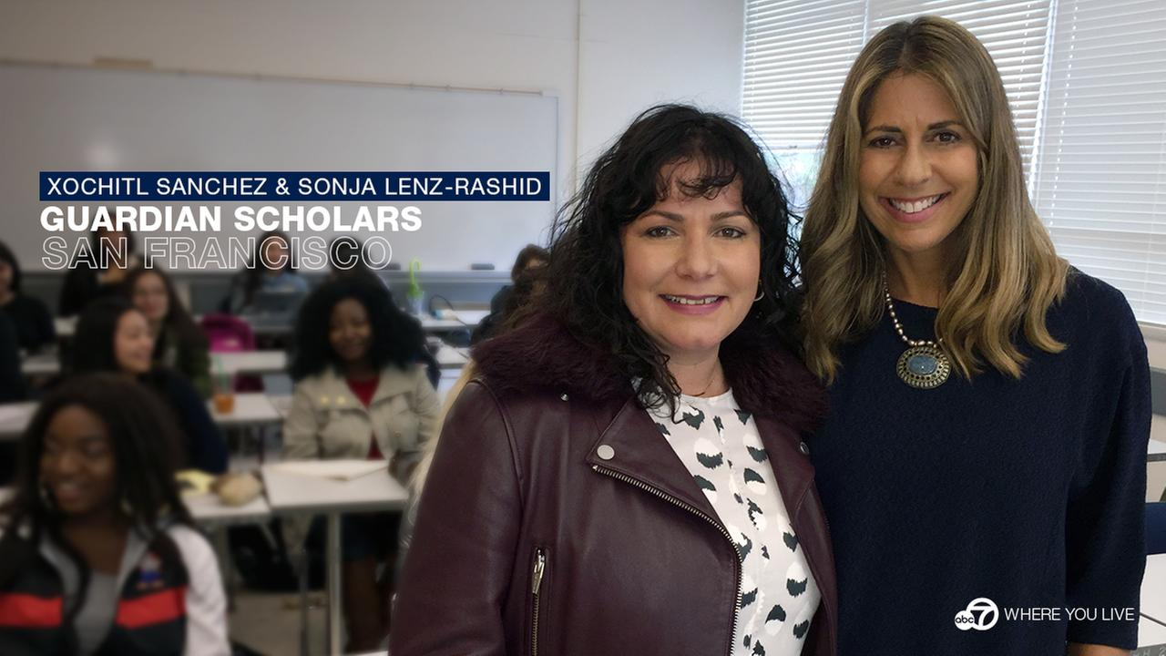 GUARDIAN SCHOLARS: Sonja Lenz-Rashid and Xochitl Sanchez have created a unique support system to help former foster kids succeed, in and out of the classroom.