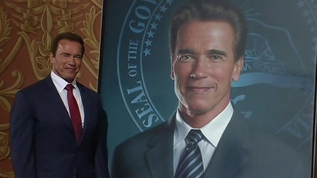 Gov. Arnold Schwarzenegger and his portrait