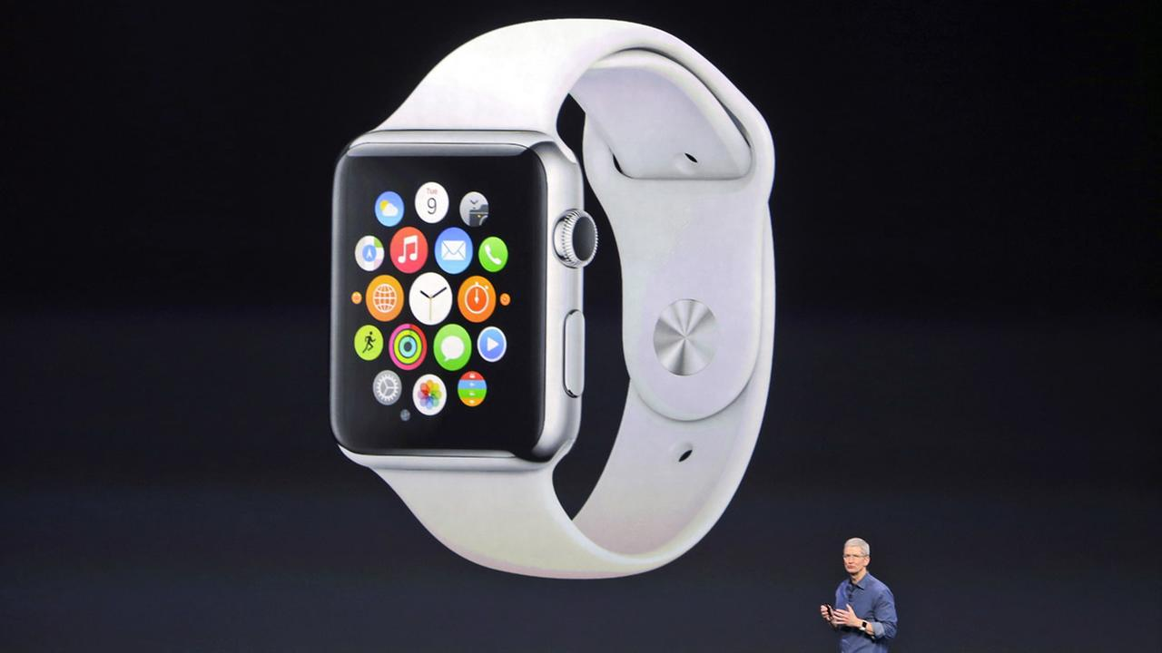 The Apple Watch unveiled by CEO Tim Cook