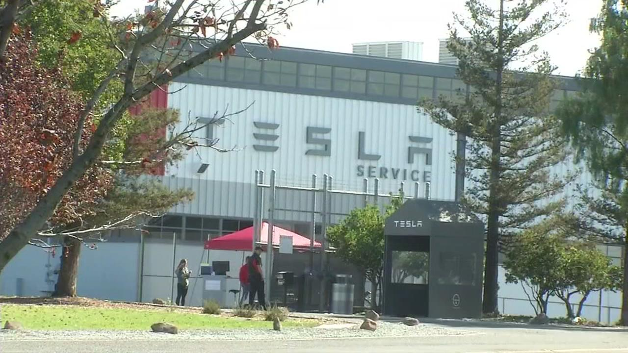 This is an undated exterior image of a Tesla plant.