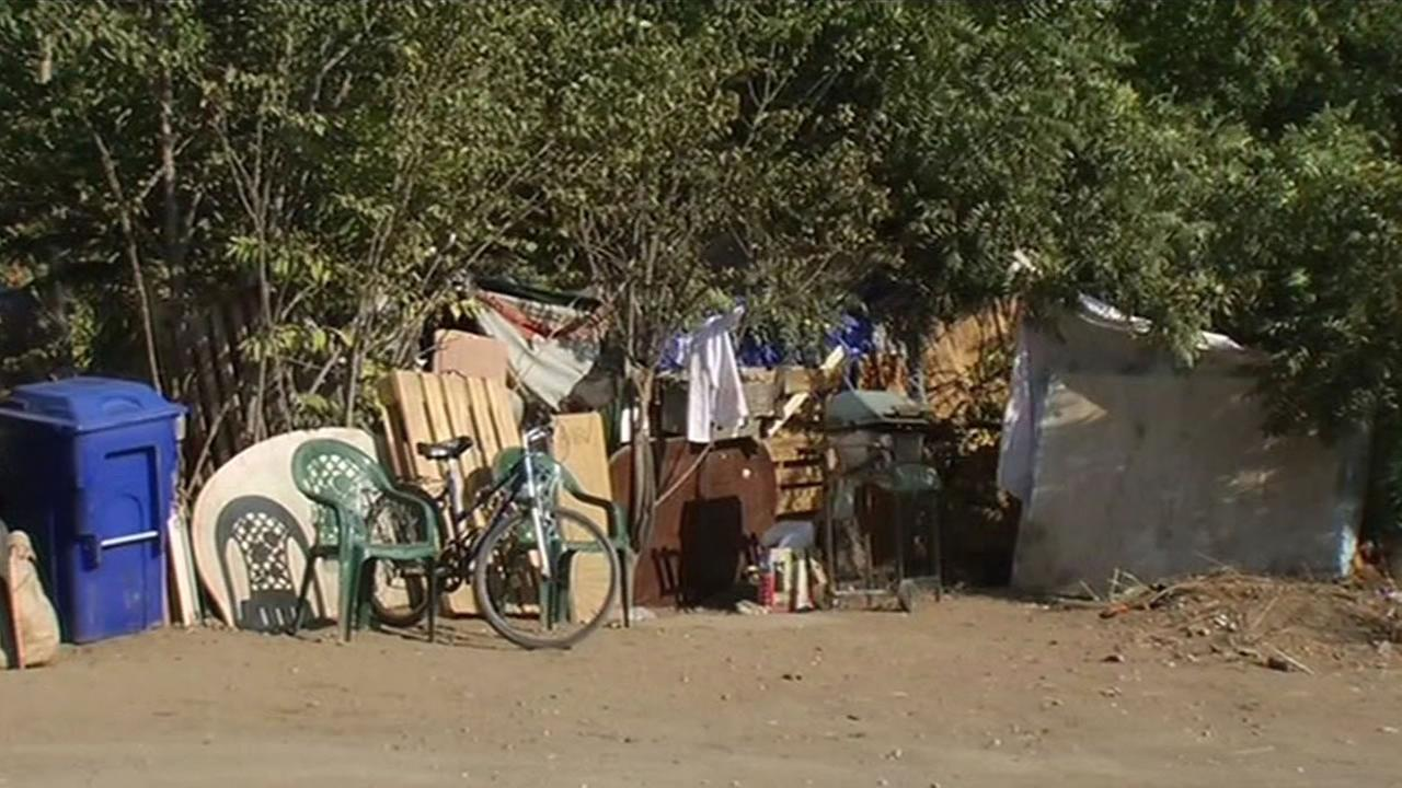 The Jungle, a homeless encampment in San Jose.