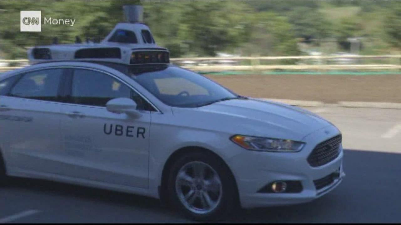 A self-driving Uber car is pictured in this undated file photo.