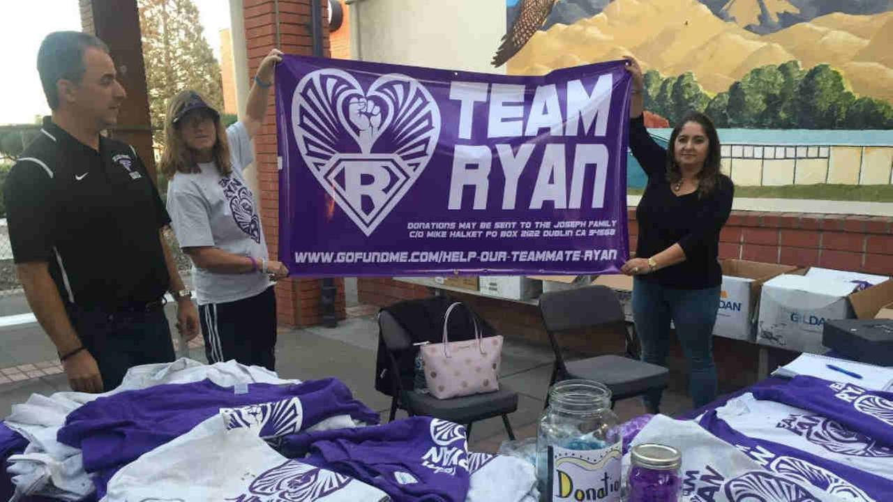 A fundraiser for a high school wrestling student is seen in Pleasant Hill, Calif. on Monday, Feb. 5, 2018.